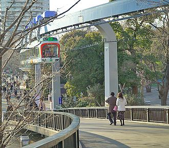 Suspension railway - The Ueno Zoo Monorail