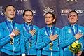 Ukraine podium 2013 Fencing WCH SFS-EQ t215039.jpg
