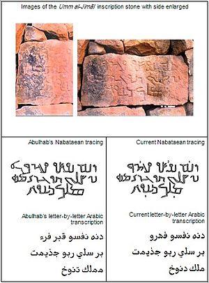 Nabataean alphabet - Example in Nabataean alphabet