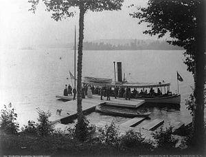 Seneca Ray Stoddard - Image: Under the hemlocks Raquette Lake 1888 Stoddard