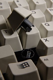 Buckling spring Mechanical switch mechanism famously used in IBM PC model M keyboard.