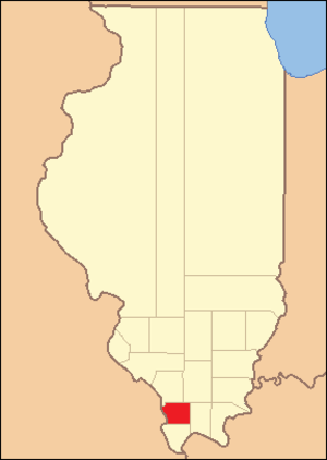 Union County, Illinois - Image: Union County Illinois 1819