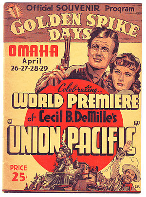 Golden spike - Golden Spike Days program, Omaha, 1939