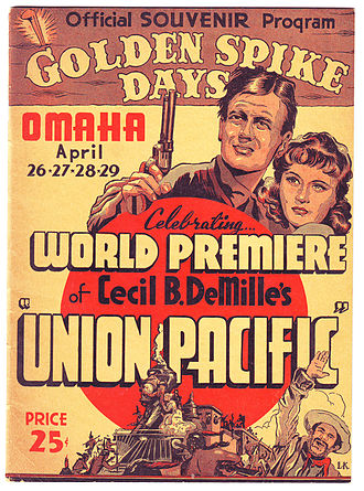 Union Pacific (film) - Image: Union Pacific World Premiere 1939