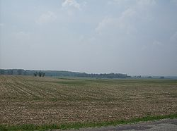 Hills and farmland cover most of Union Township