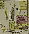 United States Brewing Co. in 1889 map detail, Sanborn Fire Insurance Map from Portland, Multnomah County, Oregon. LOC sanborn07439 001-14 (cropped).jpg