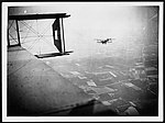 Up in the air in a Handley-Page, showing another Handley-Page making for the enemy's lines (4687994669).jpg