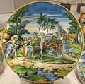 Urbino, bottega fontana, piatto con il parto di mirra, 1560 ca..JPG