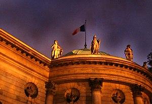 Musée de la Légion d'honneur - The museum building at night