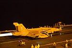 VFA-11 FA-18F Super Hornet preparing for night launch aboard USS Harry S. Truman (CVN-75) 180222-N-UJ486-117.jpg