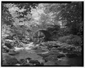 VIEW EAST FROM RIVER BED. - Bridge No. 04619, Spanning Ten Mile River at Village Hill Road, Columbia, Tolland County, CT HAER CONN,7-COLUM,1-5.tif