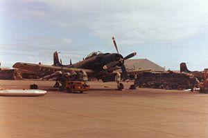 Da Nang Air Base - VNAF A-1 at Da Nang AB in 1967