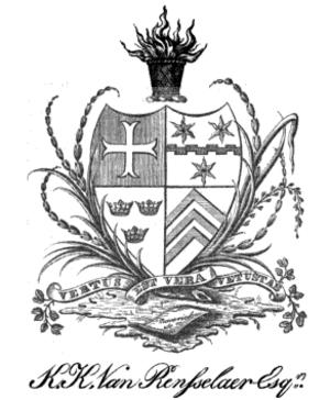 Van Rensselaer (family) - Image: Van Rensselaer Family Crest