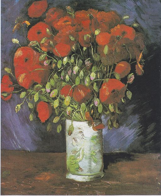 """Vase with Red Poppies"" by Vincent van Gogh"