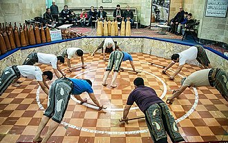 Pahlevani and zoorkhaneh rituals - Training push-ups