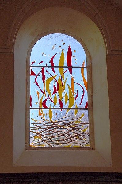 Vauxrenard: Kirche: Der brennende Dornbusch, Exodus 3–4