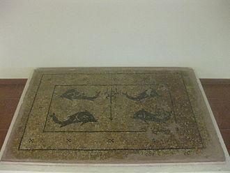Vatsa Bay - The Poseidon Mosaic from Vatsa in the archaeological museum