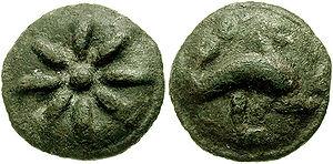 Quadrans - Teruncius (Apulia, Lucera. Circa 220 BC