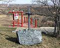 Velké Pavlovice - odpočinkové místo na naučné stezce, kříž Bendových.jpg