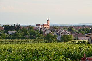 Velké Bílovice Town in South Moravian, Czech Republic