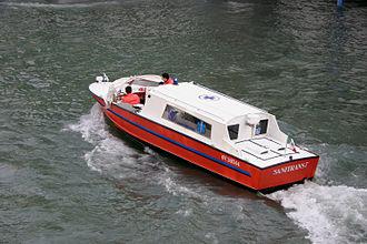 Water ambulance - A Venetian water ambulance.