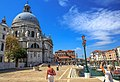 Venice city scenes - Sanne takes one last sot of St Maria of Salute Basilica (11002354136).jpg