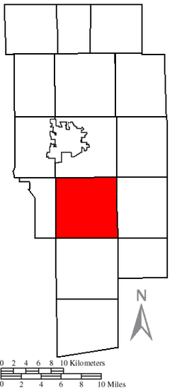 Location of Vermillion Township in Ashland County