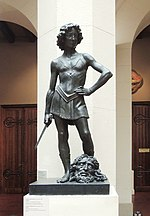 Verrocchio's David - replica in Pushkin museum 02 by shakko.jpg