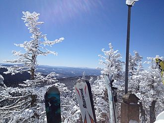 Killington Ski Resort - Image: View from Mount Killington with skis, near where the K1 gondola disembarks