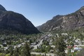 View from high above Ouray, Colorado, an old mining community high in the San Juan Mountains of southwestern Colorado LCCN2015632311.tif