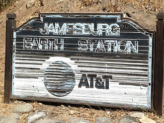 Jamesburg Earth Station - View of Jamesburg Earth Station ATT Sign - August 2014