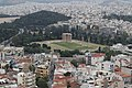 View of the Olympeion and the Arch of Hadrian from the Acropolis of Athens.jpg