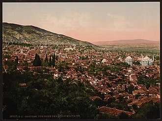 Bursa - A view of Bursa in the 1890s