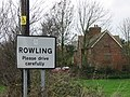 Village sign for Rowling - geograph.org.uk - 304047.jpg
