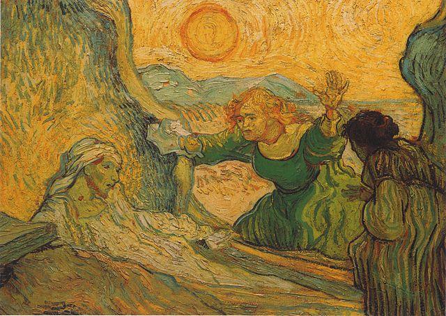 Воскрешение Лазаря. Картина ван Гога. 1890. Музей Винсента Ван Гога