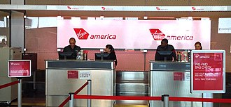Virgin America - Virgin America's check-in area at Chicago O'Hare.