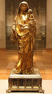 <i>Virgin of Jeanne dEvreux</i> sculpture by anonymous