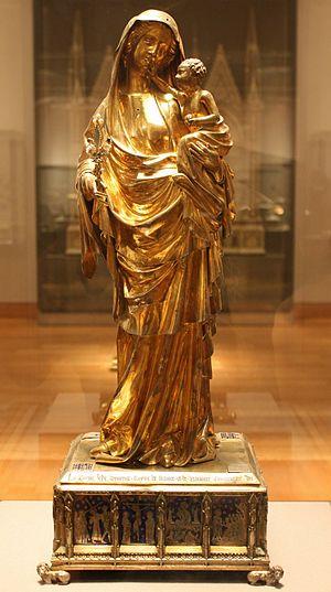 Virgin of Jeanne d'Evreux - Virgin and Child of Jeanne d'Evreux