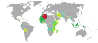 Visa requirements for Algerian citizens - Image: Visa requirements for Algerian citizens