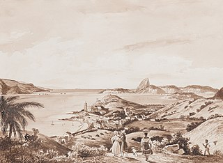 Vista de Nossa Senhora da Glória e da Baía do Rio de Janeiro