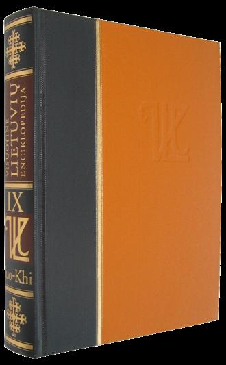 Visuotinė lietuvių enciklopedija - The 9th volume of Visuotinė lietuvių enciklopedija