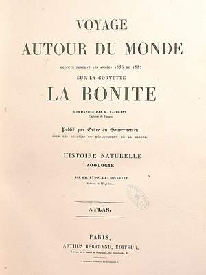 Auguste-Nicolas Vaillant - Image: Voyage de la Bonite
