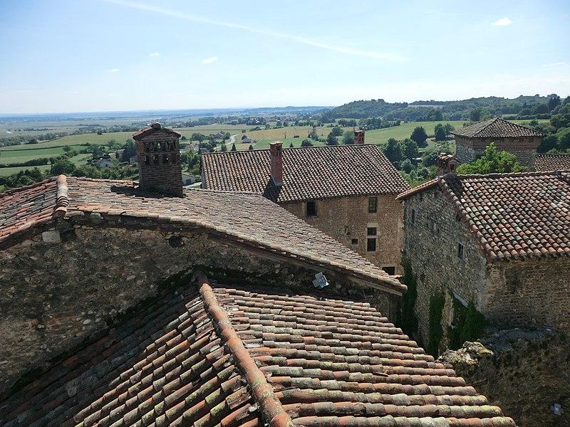 Vue de Pérouges depuis la tour de guet.