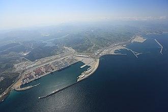 Tanger-Med - The port of Tanger Med.