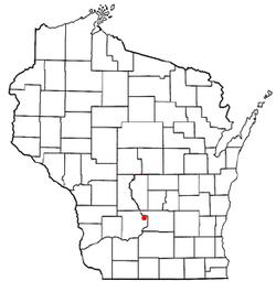 Vị trí trong Quận Sauk, Wisconsin