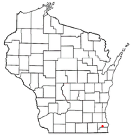 Location of Union Grove, Wisconsin