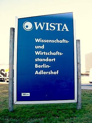 WISTA - Signage on entry to the WISTA area