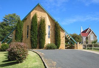 Walcha, New South Wales - The new and old Anglican churches, Walcha