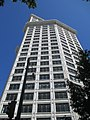 Walking my bike past the historic Smith Tower in downtown Seattle (7965485628).jpg
