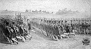 Wallachian infantery marching, 1837